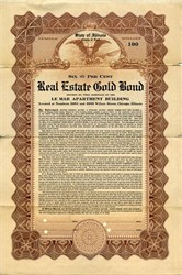 State of Illinois Real Estate Gold Bond - Illinois 1915