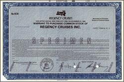 Regency Cruises Inc. 1986