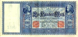 Imperial German Reichsbanknote 100 Marks - Germany 1910