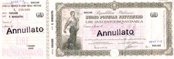 Repubblica Italiana Buono Postale Fruttifero 250.000 Lire - Italian Postal Money Order