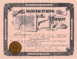Reliable Manufacturing Company (Train Brake Inventor) - Maine 1895