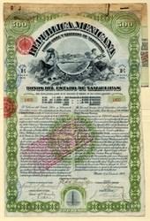 Republica Mexicana Estado Libre Y Soberano De Tamaulipas Bonos Del Estado De Tamaulipas -Mexico - 1907