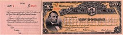 Republican Headquarters National Committee Ten Dollar Note - Washington, D.C. 1890