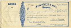 Republic of Chili - ( RARE Specimen Error Chili vs Chile) - 1896