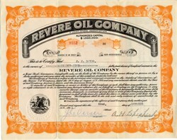 Revere Oil Company - Fort Worth, Texas 1921
