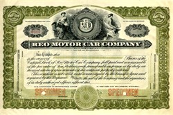 Reo Motor Car Company - Rare Specimen - Michigan 1916