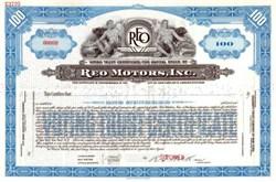 Reo Motors, Inc. RARE Specimen - 1939
