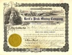 Reed's Peak Mining Company - Park City, Utah 1916