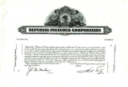 Republic Pictures Corporation - Rare Specimen Proof
