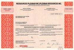Ressources Plexmar Inc., Canada