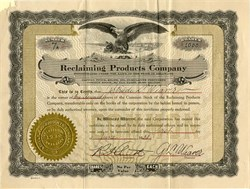 Reclaiming Products Company - Delaware 1921