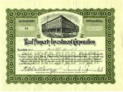 Real Property Investment  Corporation issued to Randolph Spreckels - California 1930