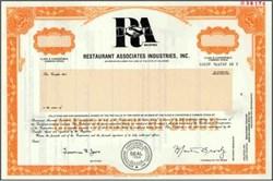 Restaurant Associates Industries, Inc.