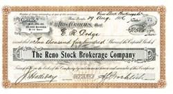 Reno Stock Brokerage Company - Nevada 1906