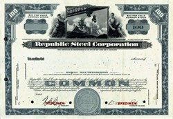 Republic Steel Corporation Specimen Stock Certificate