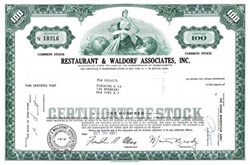 Restaurant & Waldorf Associates, Inc.