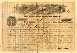 Rebuilding Tompkins Market -Public Stock of the City of New York - 1858