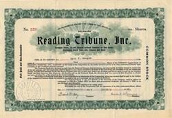 Reading Tribune, Inc. - Delaware 1923