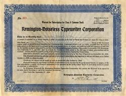 Remington - Noiseless Typewriter Corporation - New York 1926