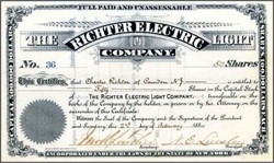 Richter Electric Light Company 1884