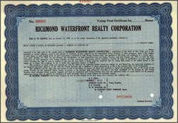 Richmond Waterfront Realty Corporation 1935