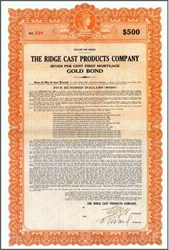 Ridge Cast Products Company 1925 - Ohio
