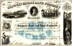 Ridgway Farm & Land Company - Elk County,  Pennsylvania 1856