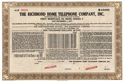 Richmond Home Telephone Company, Inc. - Indiana 1947