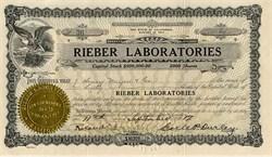 Rieber Laboratories - California 1917