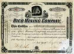 Rico Mining Company - Colorado 1880