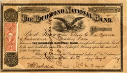 Richmond National Bank - 1869