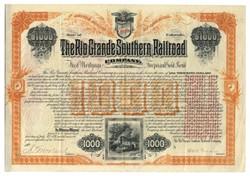 Rio Grande Southern Railroad signed by Otto Mears - Colorado 1890