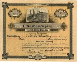 Rival Oil Company - Los Angeles, California 1906
