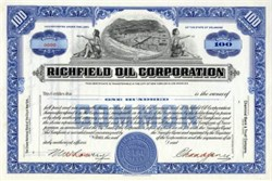 Richfield Oil Corporation Specimen