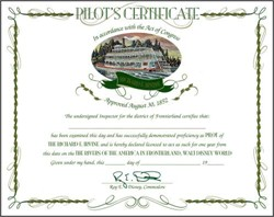 Rivers of the America in Frontierland, Walt Disney World Pilot's Certificate