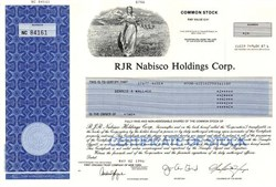 RJR Nabisco Holdings Corp. - Delaware 1996 ( Uncancelled )