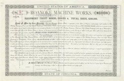 Roanoke Machine Works 1888
