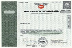 Ross Aviation, Incorporated - Delaware 1970