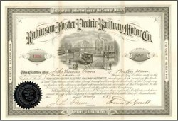 Robinson Foster Electric Railway Motor Co. 1889 ( Monorail in Vignette )