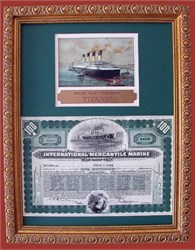 International Mercantile Marine Stock Titanic Owners