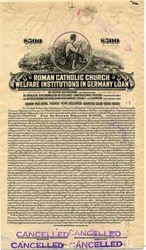 Roman Catholic Church Welfare Institutions in Germany Loan (In U.S. Dollars)  - 1926