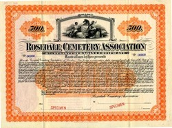 Rosedale Cemetery Association -  Linden, New Jersey 1906