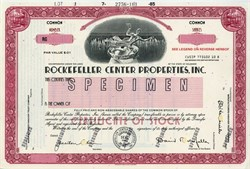 Rockefeller Center Properties, Inc. -David Rockefeller as Chairman - Delaware 1985