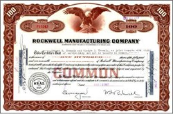 Rockwell Manufacturing Company 1947