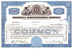 Rockwell Manufacturing Company - Willard F. Rockwell, Jr as President