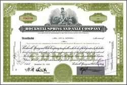 Rockwell Spring and Axel Company ( Now Rockwell International )