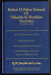 Robert D. Fisher Manual of Valuable and Worthless Securities, Volume 15 - Last Fisher Manual
