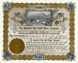 Roderick Dhu Gold Mining Company - Gilpin County. Quartz Hill. Colorado 1903