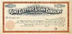 Rome Electric Light Company - Georgia