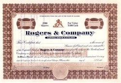 Rogers and Company - Famous Silverware Company 1920's